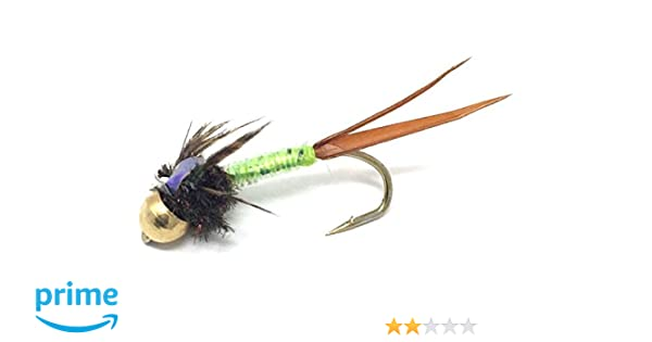 TROUT CHARTREUSE .#6 HOOK FLY FISH UMPQUA 1 DOZEN STEELHEAD CADDIS FLIES