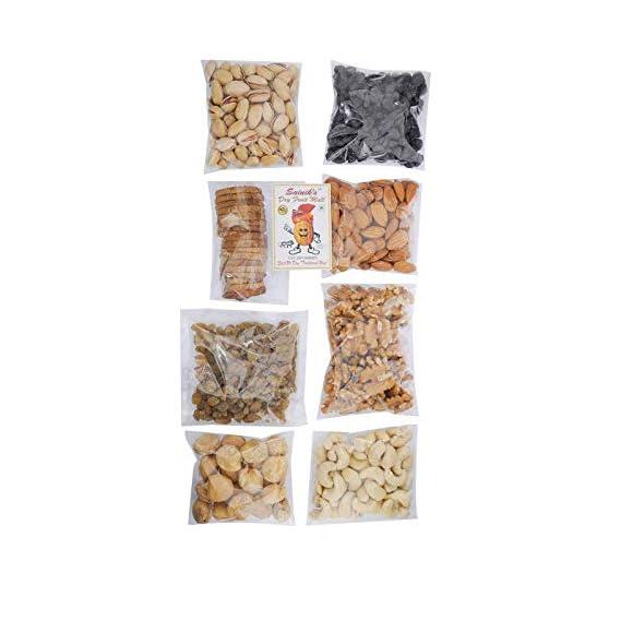 Sainik Dry Fruit Mall Dry Fruits Combo Pack with Cashew Nut, Black-Raisins, Golden Raisins, Almonds, Pista, Walnut, Afghani Apricot, Anjeer (800g)