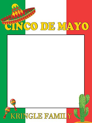 Large Custom Mexican Fiesta Party, Personalized Cinco De Mayo Photo Booth Frame Prop, Fiesta Party Ideas, Cinco De Mayo Decor, Fiesta Idea sizes 36x24, 48x36, Handmade Party Supply Photo Booth (Fiesta Party Personalized Banner)