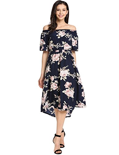 Meaneor Womens Casual Shoulder Pleated
