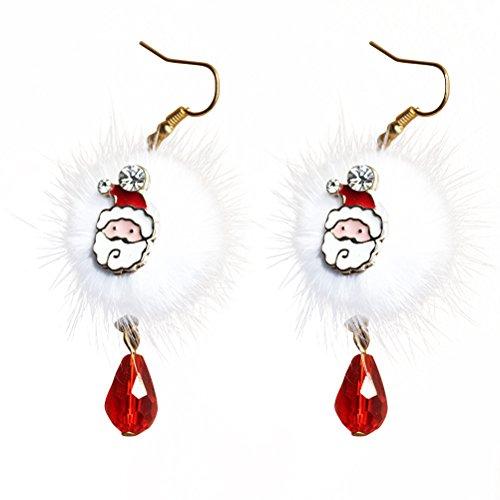 OULII Christmas Earrings Womens Jewellery Santa Claus Drop Dangle Earrings Girls Gift 1 (Santa Dangle)