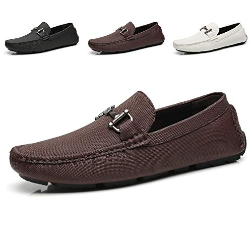Faranzi Mens Driving Moccasins Penny Slip on Loafers Lightweight Comfortable Casual Driving Shoes Soft Flats Boat Shoes for Men