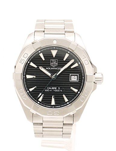 (タグホイヤー) TAG HEUER アクアレーサー 腕時計 メンズ 自動巻き SS シルバー 黒文字盤 WAY2110 中古 B07DL5GVXP