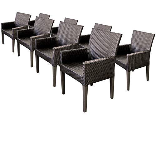 Amazon.com: TK Classics – Juego de 8 sillas de comedor de ...