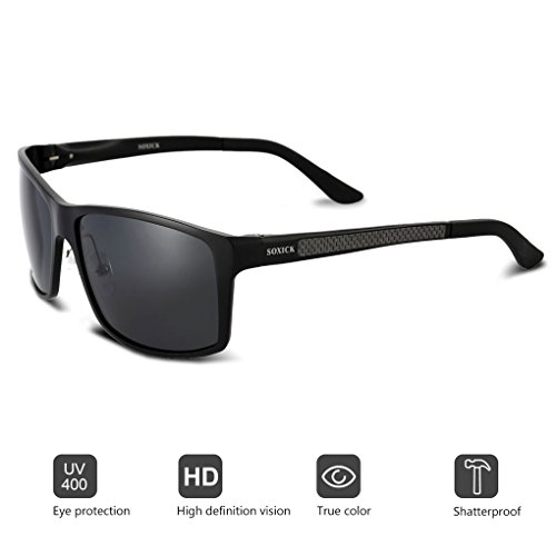 Wayfarer Polarized Sunglasses Women Men - Metal Frame UV 400 Anti Glare - Can Sunglasses You Trust