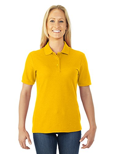 Jerzees womens 5.3 oz. 65/35 Easy-Care Polo(537WR)-GOLD-XL