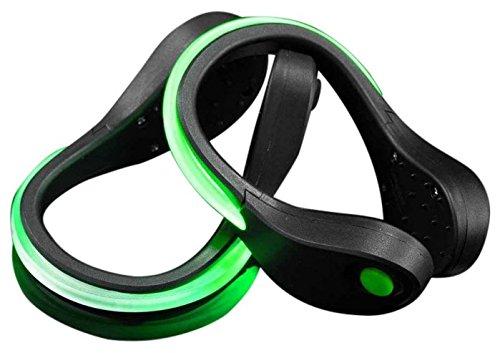 Mace Brand Nite Beams Safety Wear Shoe Safety Lights, Green