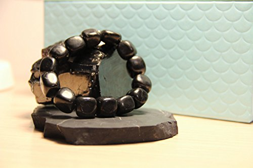 Karelian Heritage Ltd. Shungite Tumbled Bracelet Against Emf, EMF Protection Gift for Him Her Photo #4