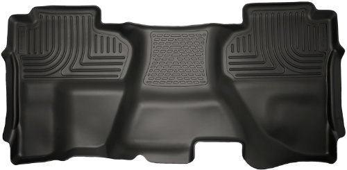 Husky Liners 19241 WeatherBeater Black 2nd Seat Floor Liner by Husky Liners