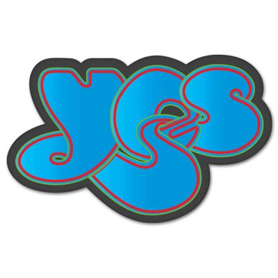 Yes rock band vynil car sticker decal select size