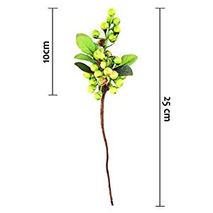 10 Pcs Plastic Artificial Flowers California Berries Blueberry Fruit Fake Silk Flowers for Christmas Home Decorative Party Wedding 2