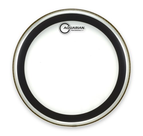 Aquarian Drumheads PF22 Performance-2 22-inch Bass Drum Head (2 Ply Clear Bass Drum)