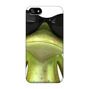 Premium Frog Sunglasses Sympathetic Bohemia Heavy-duty Protection Case For Iphone 5/5s