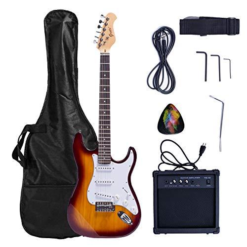 Grote Solid Body Electric Guitar Classic Custom Guitar with Guitar Gigbag 10W AMP