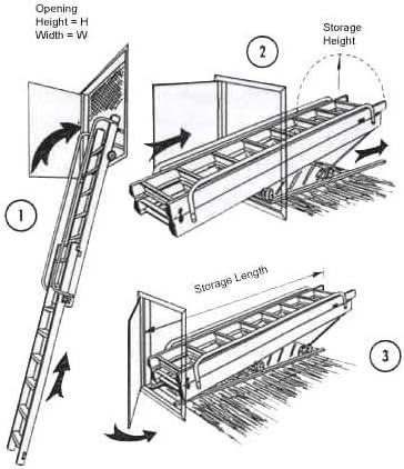 Henry Vertical escalera para desván - Mezzanine acceso escalera. Aluminio escalera de cabeza deslizante Vertical. Rebecca hose