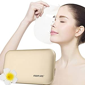 KINGDOMCARES Electric Mask Heater Essence Facial Mask Pure Natural Face Mask Facial Treatment Wrinkles Acne Scars Blackheads Cellulite Ultimate Spa Quality Skin Care Golden