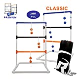 Ladder Ball Toss Game for Adults, Kids, Family - Fun Golf Game Set with Six Colored Bolos, Scoreboard, and Carrying Bag - Outdoor Yard Games and Activities for Backyard, Tailgating, Parties, Camping