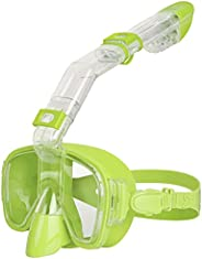 Unigear Snorkel Mask, Foldable Anti-Fog Snorkeling Set with Dry Top System and Camera Mount for Free Diving an