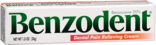 Benzodent Dental Pain Relieving Cream 1 oz (Pack of 5)