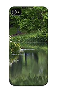 Fashion PC Samsung Note 4- Park Pond Trees Flowers Garden Lake Reflection Defender For Lovers