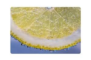 Alfombrilla antideslizante para puerta delantera con estampado de limón, para exteriores e impermeables, para patio, porche, decoración del hogar, exteriores, alfombrillas de bienvenida, 58,4 x 40,6 cm