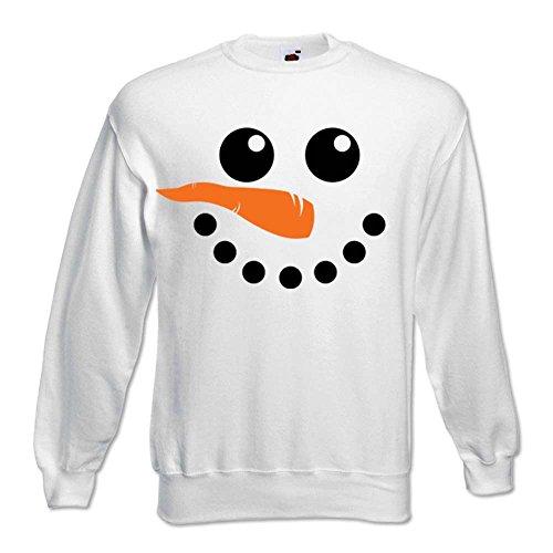Idea Snowman Natalizia Bianca L Natale Cappuccio Unisex Regalo Felpa znEWHaq