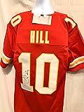 Tyreek Hill Kansas City Chiefs Signed Autograph Red