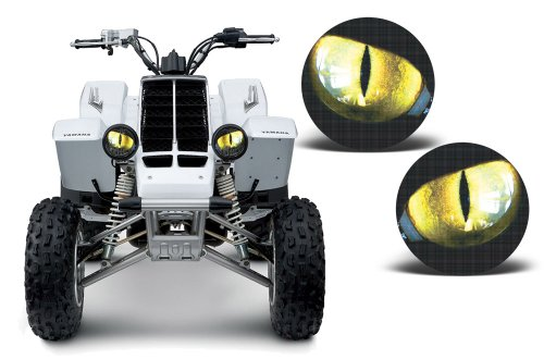 AMR Racing ATV Headlight Eye Graphic Decal Cover for Yamaha Banshee 350 87-05 - Eclipse Yellow