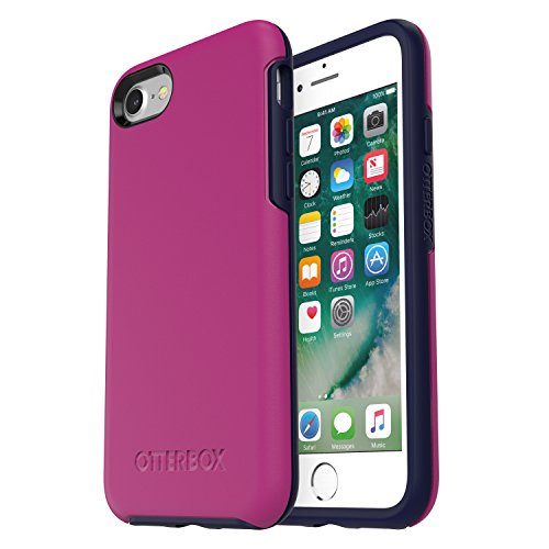 OtterBox SYMMETRY SERIES Case for iPhone 8 & iPhone 7 (NOT Plus) - Frustration Free Packaging - MIX BERRY JAM (BATON ROUGE/MARITIME BLUE)