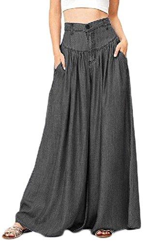 Pantalon Sevozimda Occasionnel Les Black Pantalon Palazzo Et Bootcut Taille Haute Femmes Fuse Jean pCApwZPq