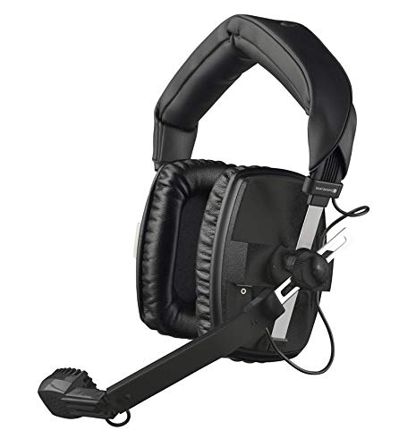 Beyerdynamic DT-109-200-400-BLACK Closed Headset with Dynamic Hypercardioid Microphone, 400 Ohms, Black ()