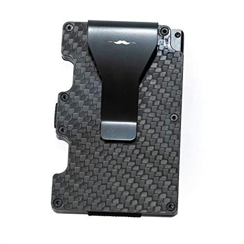 Handsome Man Carbon Fiber RFID Blocking Minimalist Wallet, Credit Card Holder, Business Card Holder, Slim Wallet, Money Clip