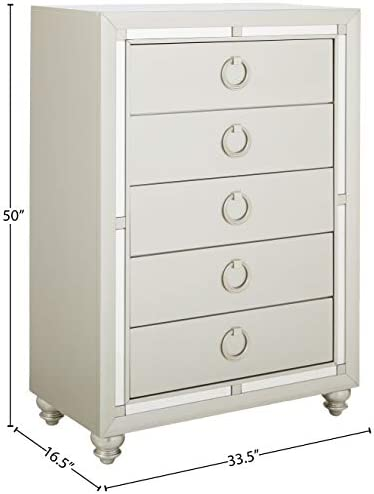 home, kitchen, furniture, bedroom furniture,  dressers 1 picture Global Furniture USA (1621 Riley Chest, Silver in USA