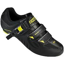 Exustar SR4112 Road Cycling Shoe (Black/Green - 37.0)