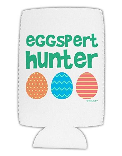 TooLoud Eggspert Hunter - Easter - Green Collapsible Neoprene Tall Can Insulator