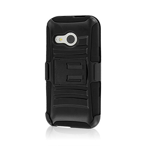 HTC One Mini 2 / One Remix Belt Clip Case, MPERO IMPACT XT Series Kickstand Case and Belt Clip Holster for HTC One Mini 2 / One Remix - Black