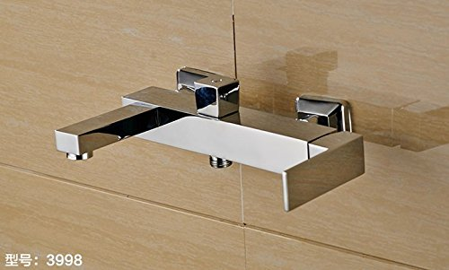 Diongrdk Pure Copper Shower Faucet Bathroom Bathroom Wall Style Hot and Cold Faucet Shower Bath Tub Faucet