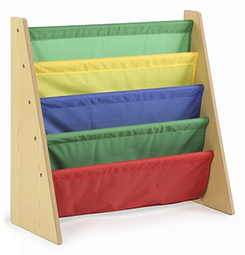 Tot Tutors Kids Book Rack Storage Bookshelf - Various Colors Available
