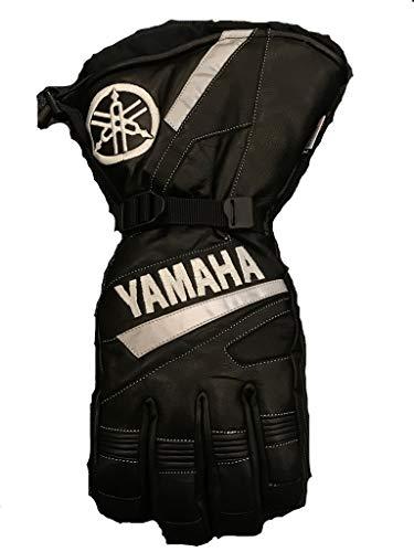 FXR Yamaha Leather Gauntlet Snowmobile Gloves Black ()