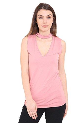 Rewatronics - Camiseta sin mangas - camisa - Sin mangas - para mujer Rose Pink