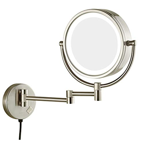 GZZ Personal Makeup Mirrors Led Makeup Mirror 8 Inch with Light 10 -