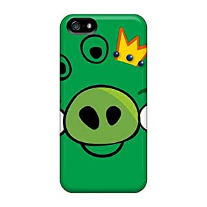 Cute Tpu DrunkLove Angry Birds Pig Case Cover For Iphone 5/5s