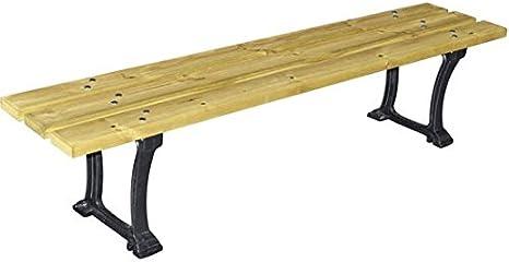 mes-meubles-jardin – Banqueta para Stuttgart fundido y madera: Amazon.es: Jardín