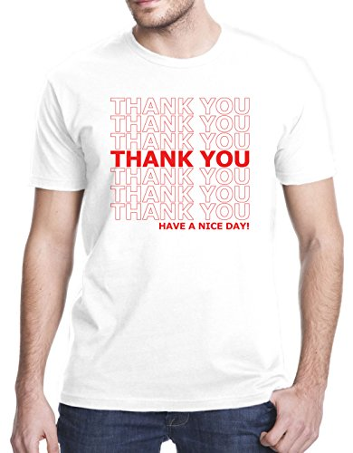 Thank You Have A Nice Day Grocery Bag T-Shirt, Medium, - Shopping For Men