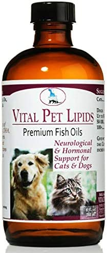 Vitality Science Vital Pet Lipids for Cats and Dogs Supports Gland Health Enhances Mucus Membranes Improves Skin Coat Normalizes Blood Sugar Neurological Hormonal Support 100 Safe