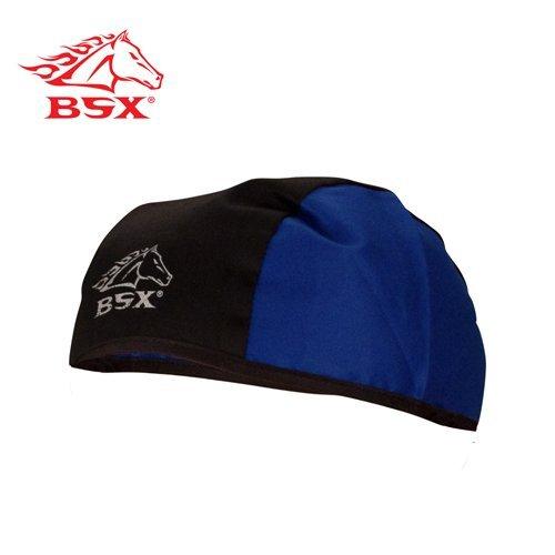 Black Stallion BSX BC5B-BLU Black/Blue Cotton Beanie - Blu Beanie