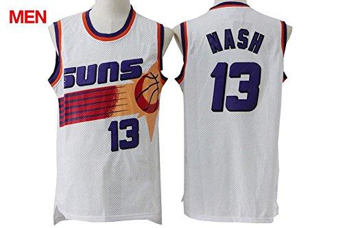 Phoenix Suns Steve Nash #13 Men's Retro Jersey - White M