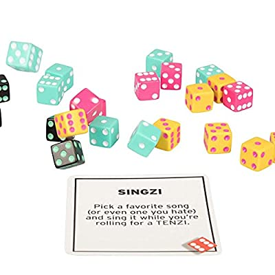 TENZI 77 Ways to Play The Add-on Card Set for The Dice Party Game - Ages 7 to 97: Toys & Games