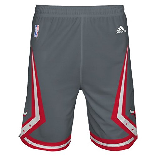 adidas Chicago Bulls NBA Youth Pride Swingman Shorts Gray (XL 18)