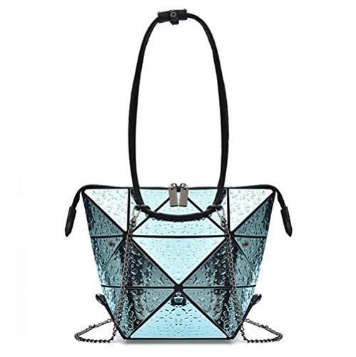 Jl Rhombic Chaîne Sacs Pour Femmes Casual Shopping Variété Lingge Sac À Main Sauvage Mode Épaule Unique Sac Diagonal, Rouge Bleu